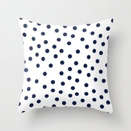 Simply Dots in Nautical Navy Throw Pillow