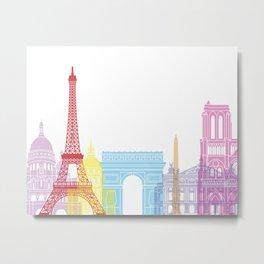 Paris skyline pop Metal Print