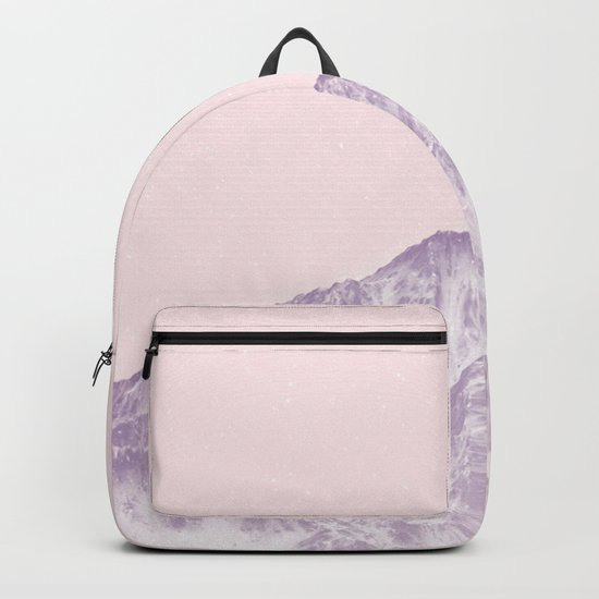 pink mountain Backpack