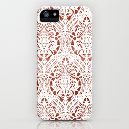 Sanguine Vintage Pattern iPhone Case