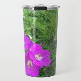 Purple-Pink Flowers Travel Mug