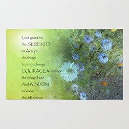 Serenity Prayer Bachelor's Buttons Rug