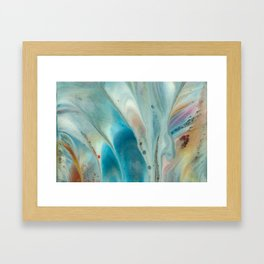 Pearl abstraction Framed Art Print