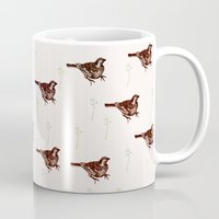sparrow Mugs featuring Sparrow by Fine Cut