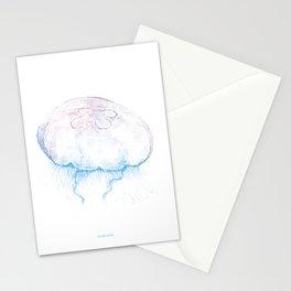 Aurelia aurita (color) Stationery Cards