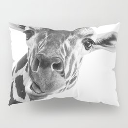 Giraffe Portrait // Grey Wild Animal Cute Zoo Safari Madagascar Wildlife Nursery Decor Ideas Pillow Sham