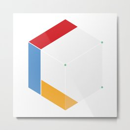 Premade Logo - Cube Connected Metal Print