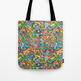 A pinch of everything in a pattern full of carnival colors Tote Bag