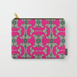 Soulful Aboriginal Turtle Pink Neo Tribal Print Carry-All Pouch