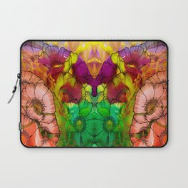 Modern Flowers and Shapes - Mixed Media Laptop Sleeve