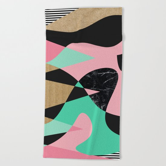 Shapes_Textures_Stripes Beach Towel