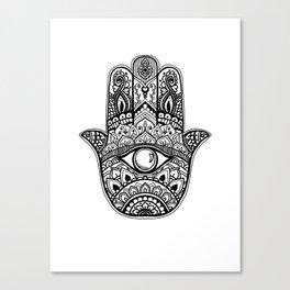 Hamsa - evil eye Canvas Print