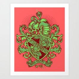 Tri-Beta Crest Art Print