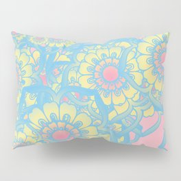 Pastel colored daisies Pillow Sham