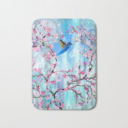 Hummingbird Design Bath Mat