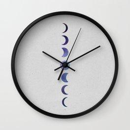 Galaxy Moon Phases Wall Clock