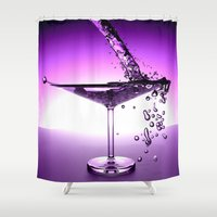 martini Shower Curtains featuring Martini by Littlebell