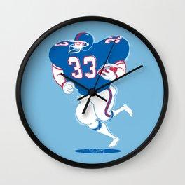 American Footballer Wall Clock