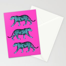 Tigers (Magenta and Blue) Stationery Cards