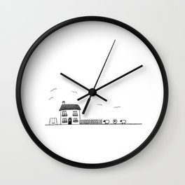 Little Country Cottage Wall Clock