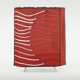 Japan sunset on Uranus Shower Curtain