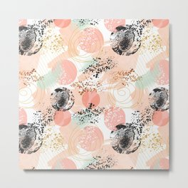 Pattern abstract shapes pastel and textures Metal Print