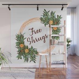 Free Shrugs spring summer wreath Wall Mural