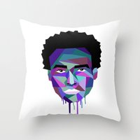 childish gambino Throw Pillows featuring Childish Gambino by G-Fab