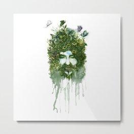 God of Nature Greenery Plantdad daddy  Metal Print