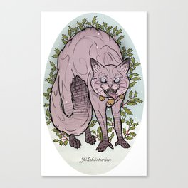 Yule cat Canvas Print