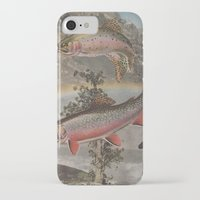 trout iPhone & iPod Cases featuring Rainbow Trout by Mitch Meseke