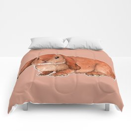 Red rabbit ram Comforters