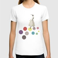 lady T-shirts featuring Bird Lady by Cassia Beck