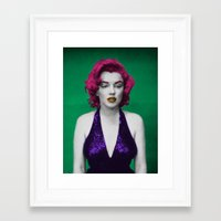 monroe Framed Art Prints featuring Monroe by POP Prints by FMcLaws