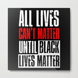Black Lives Matter Outfit Ideas Metal Print