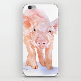 Pig Watercolor Painting iPhone Skin