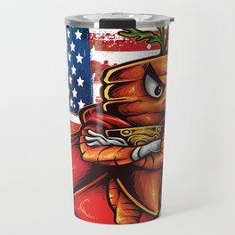 Angry Carrot USA Flag Foodietoon SuperHero Travel Mug