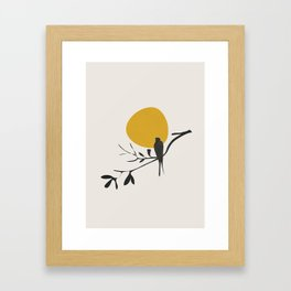 Bird and the Setting Sun Framed Art Print