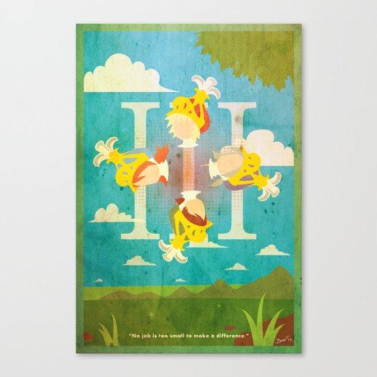 Vintage FF Poster III Canvas Print