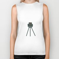 camera Biker Tanks featuring Camera by Suchita Isaac