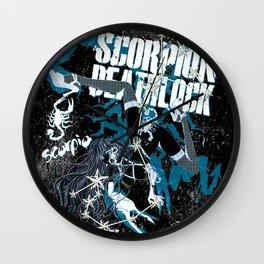 SCORPIO YOGA NEGA Wall Clock