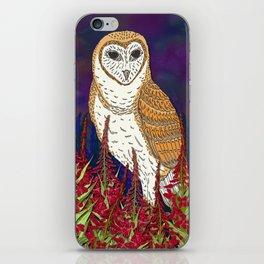 Barn Owl and Fireweed iPhone Skin