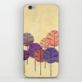 SALMON AUTUMN TREES iPhone Skin