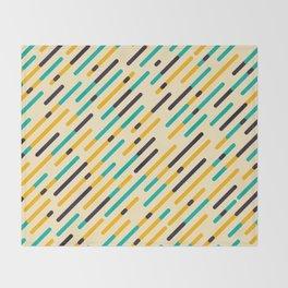 Retro Rounded Diagonal Stripes Throw Blanket