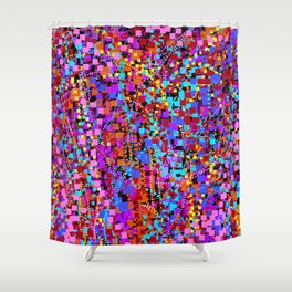 field of squares 2 Shower Curtain