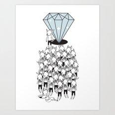 I GOTTA BIG DIAMOND  Art Print