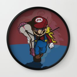 Mario & Peach Wall Clock
