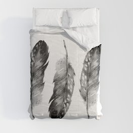 Three Feathers Black And White II Comforters