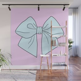 Alice Blue Vector Bow Wall Mural