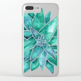 Aloe Vera – Turquoise Palette Clear iPhone Case
